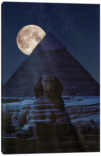The Dark Side Of The Pyramid Canvas Art Print