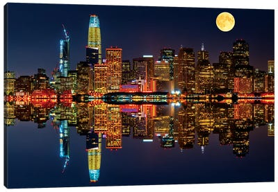 San Francisco By Night Canvas Art Print