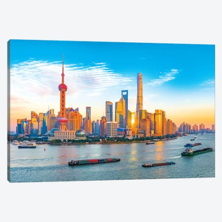 Shanghai Canvas Print #MAO181} by Marco Carmassi Canvas Art