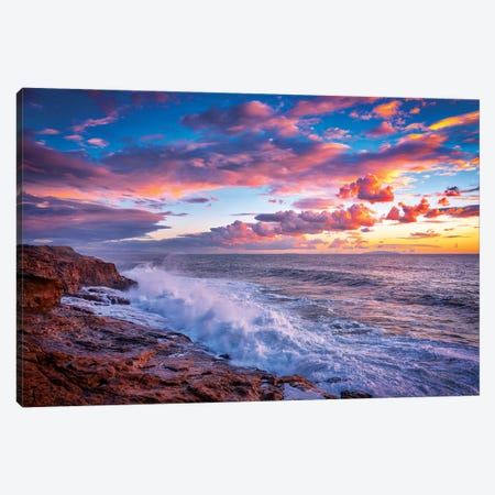 Stormy Sea Canvas Print #MAO189} by Marco Carmassi Canvas Artwork