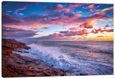 Stormy Sea Canvas Art Print