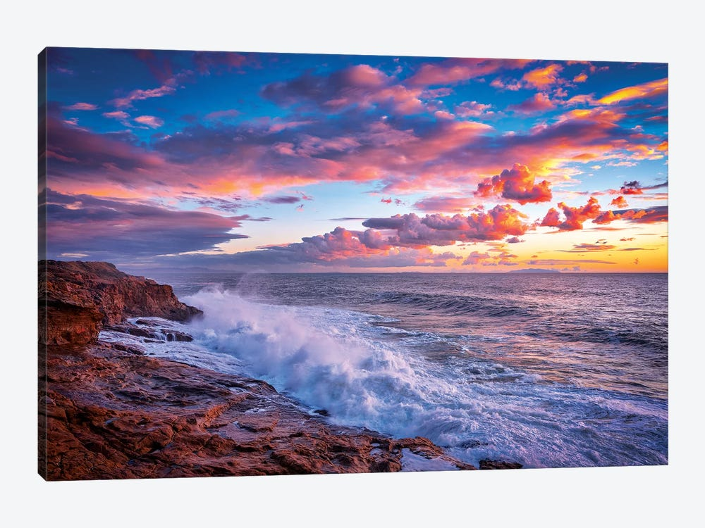 Stormy Sea by Marco Carmassi 1-piece Canvas Print