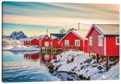 Svolvaer Red House Canvas Art Print