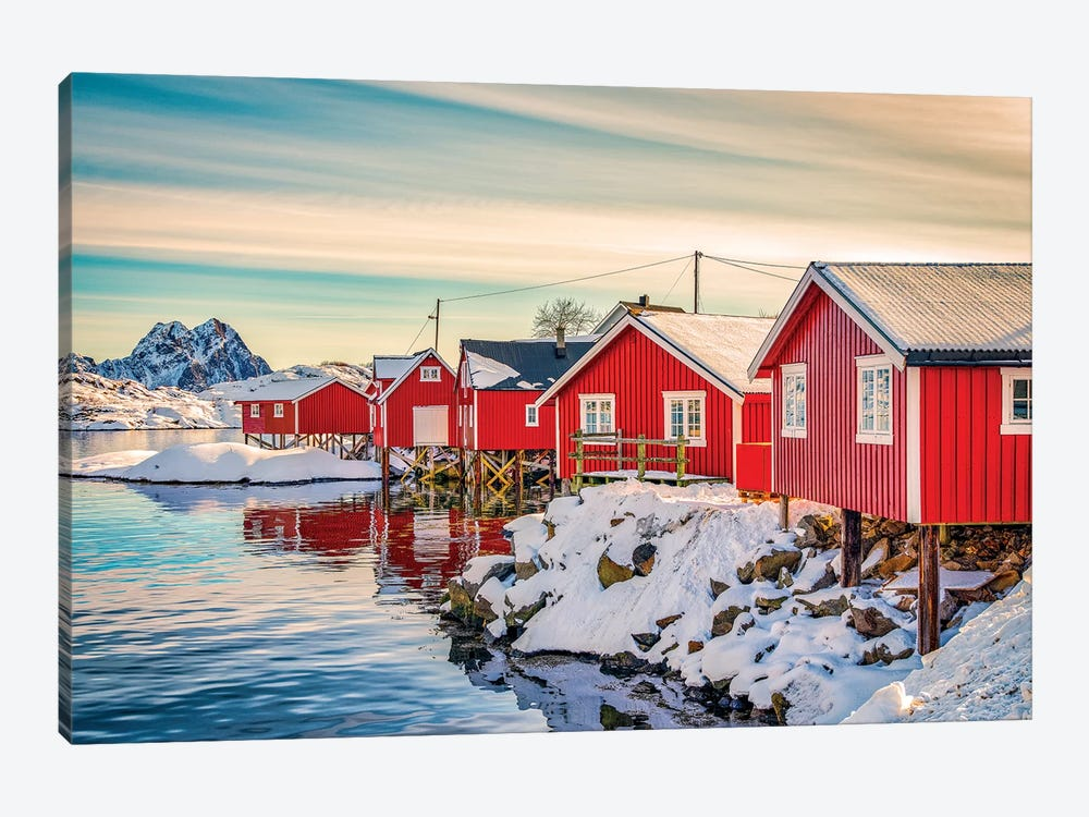 Svolvaer Red House by Marco Carmassi 1-piece Canvas Artwork