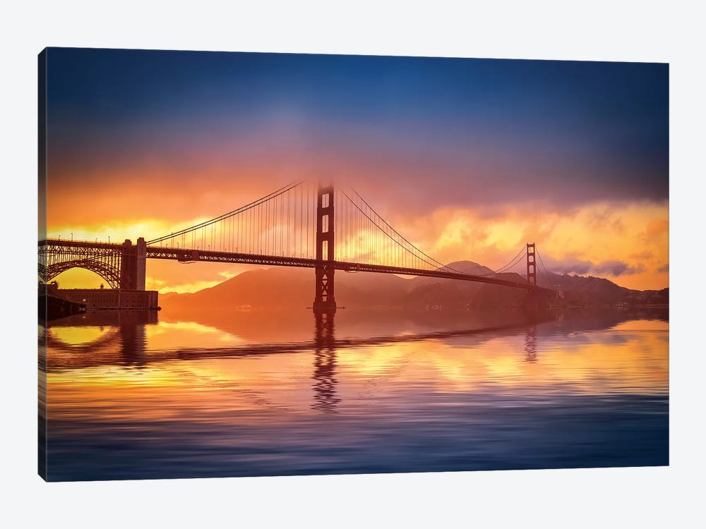 The Bridge by Marco Carmassi 1-piece Canvas Artwork
