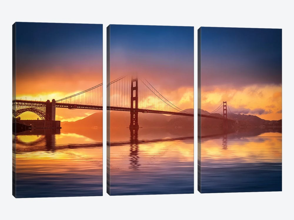 The Bridge by Marco Carmassi 3-piece Canvas Art