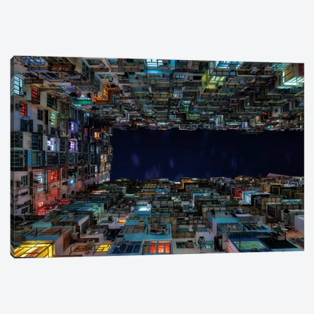 The Grid Quarry Bay Canvas Print #MAO194} by Marco Carmassi Canvas Artwork