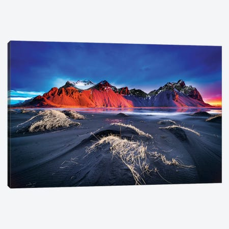 The Srings Side Of Vestrahorn Canvas Print #MAO196} by Marco Carmassi Canvas Art