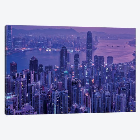 Vctoria Peak Hong Kong Canvas Print #MAO198} by Marco Carmassi Art Print
