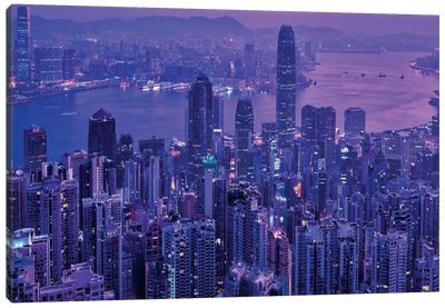 Vctoria Peak Hong Kong Canvas Art Print