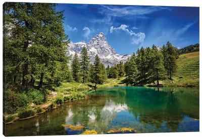 Blue Lake Canvas Art Print