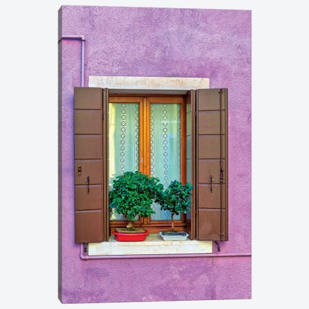Violet Window In Venice Canvas Print #MAO201} by Marco Carmassi Art Print