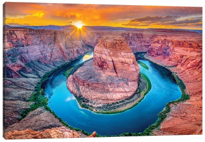 Magic Horseshoe Bend  Canvas Art Print