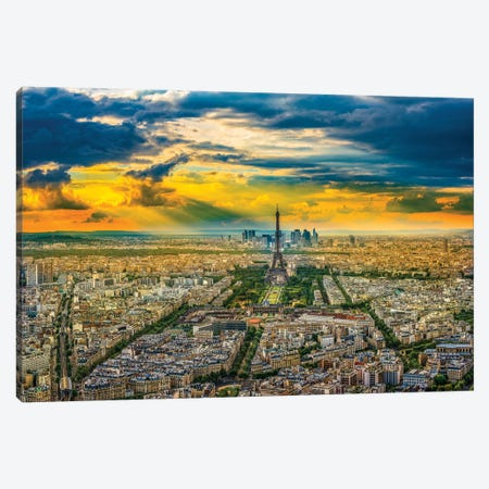 Montparnasse View Canvas Print #MAO208} by Marco Carmassi Canvas Art Print
