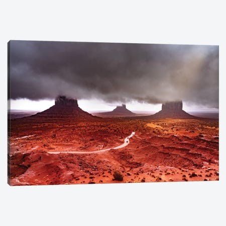 Monument Valley Super Clouds Canvas Print #MAO209} by Marco Carmassi Canvas Art Print