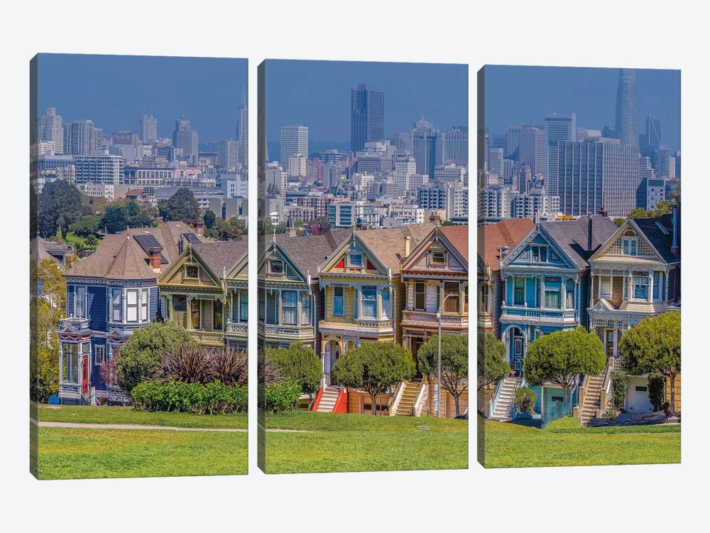 Relaxing in San Francisco by Marco Carmassi 3-piece Canvas Art Print