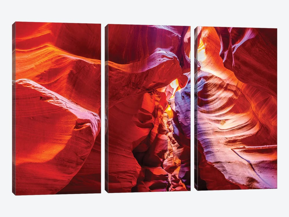 Inside Antelope Canyon by Marco Carmassi 3-piece Canvas Art