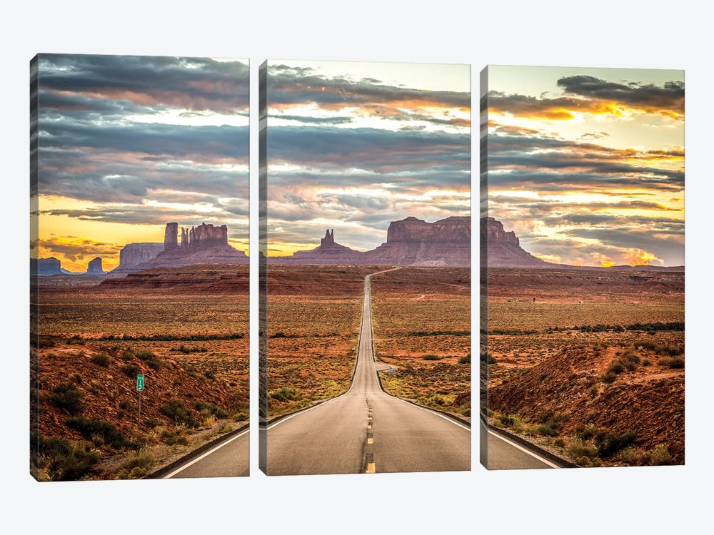 Monumental by Marco Carmassi 3-piece Canvas Print