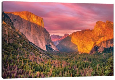 Yosemite Valley Sunset Canvas Art Print