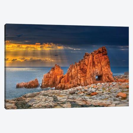 Arbatax Red Rock Canvas Print #MAO23} by Marco Carmassi Canvas Art