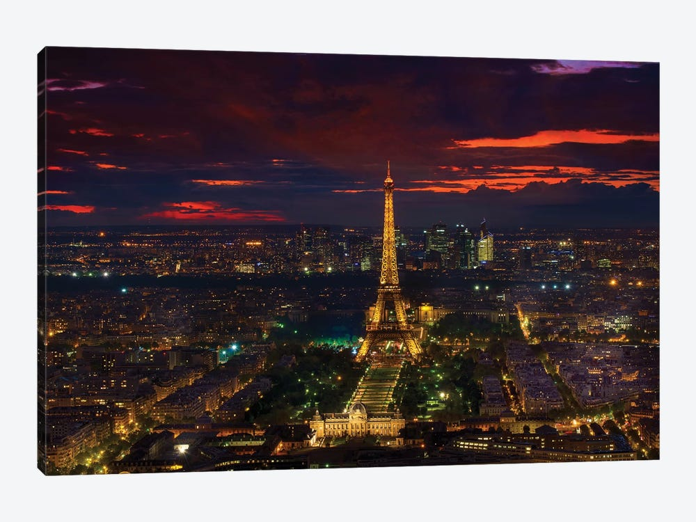 Gold Tower Sunset by Marco Carmassi 1-piece Canvas Artwork