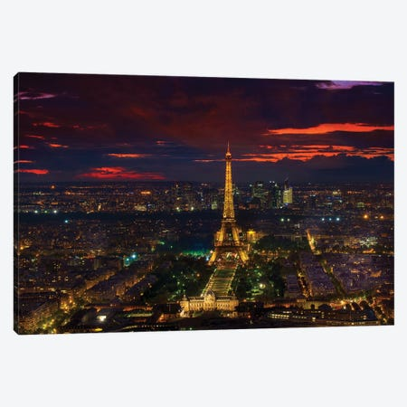 Gold Tower Sunset Canvas Print #MAO25} by Marco Carmassi Canvas Art Print