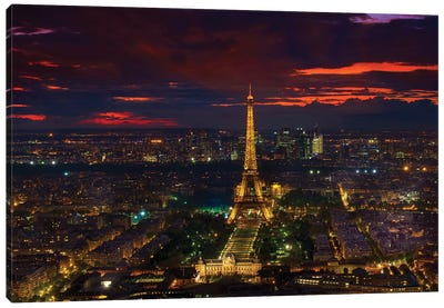 Gold Tower Sunset Canvas Art Print