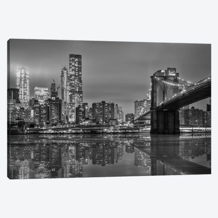 The Bridge NY Canvas Print #MAO33} by Marco Carmassi Canvas Art Print