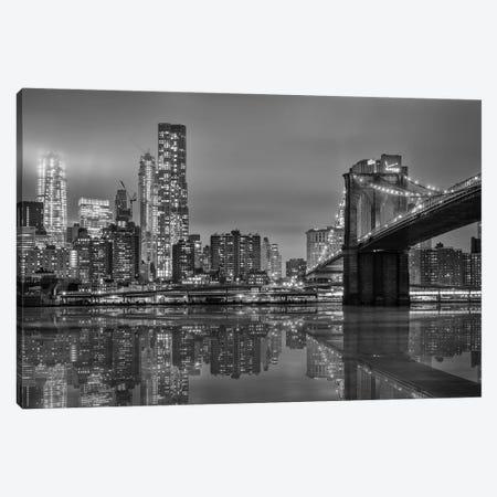 The Bridge NY Canvas Print #MAO33} by Marco Carmassi Canvas Art Print