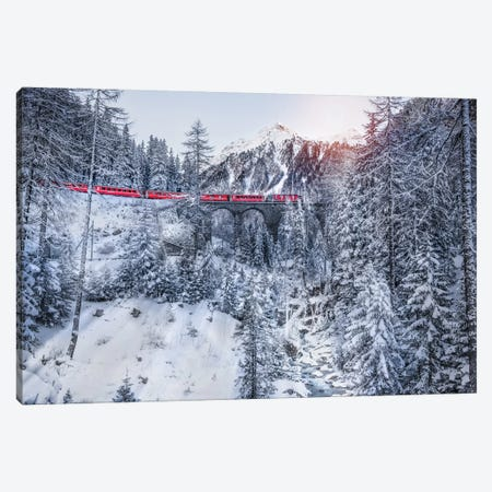 Bernina Express Canvas Print #MAO35} by Marco Carmassi Canvas Wall Art
