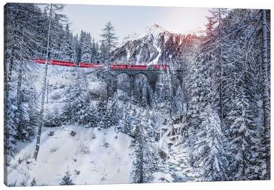 Bernina Express Canvas Art Print