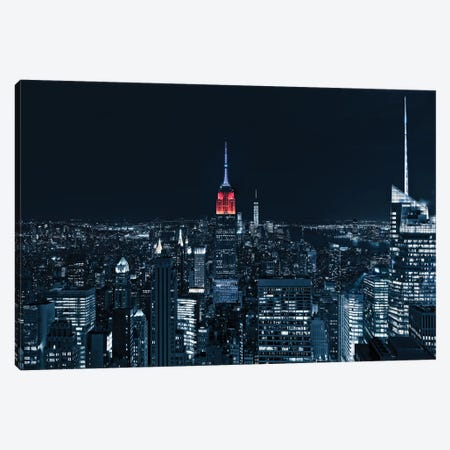 Blue Empire By Night Canvas Print #MAO37} by Marco Carmassi Canvas Art