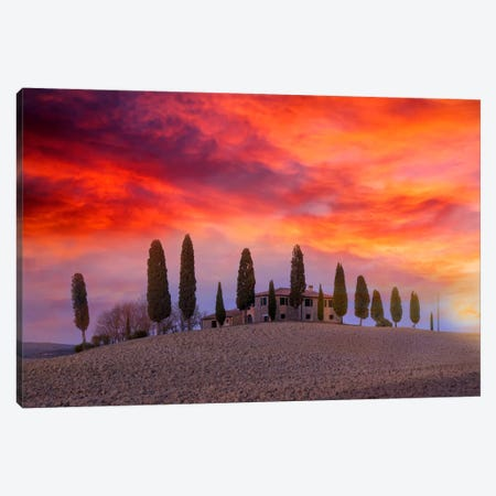 Winter Sunset At Dreamland Canvas Print #MAO38} by Marco Carmassi Art Print