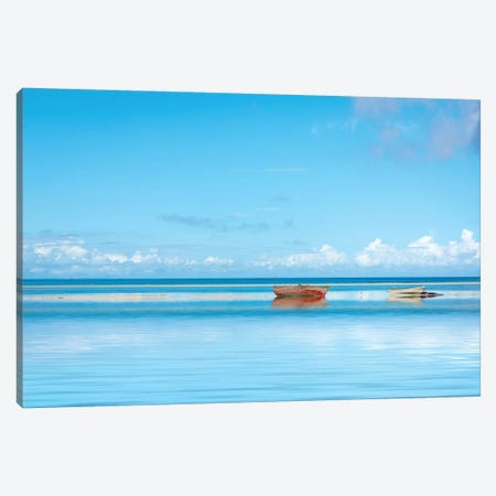 Zanzibar Boats Canvas Print #MAO43} by Marco Carmassi Canvas Wall Art