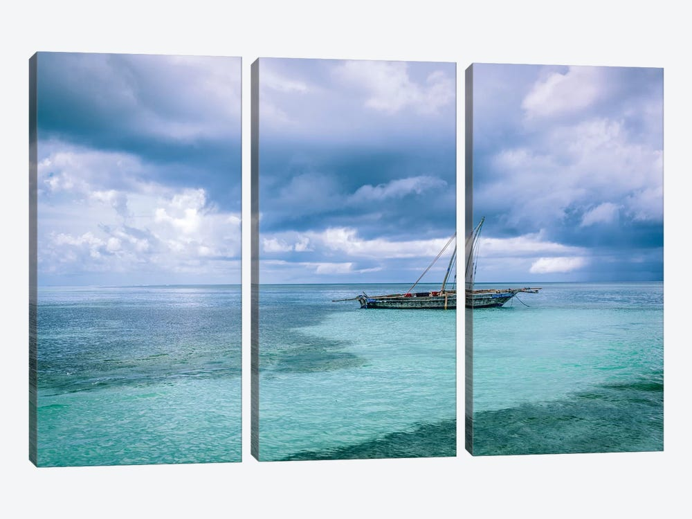 Waiting To Go  Fishing by Marco Carmassi 3-piece Canvas Artwork