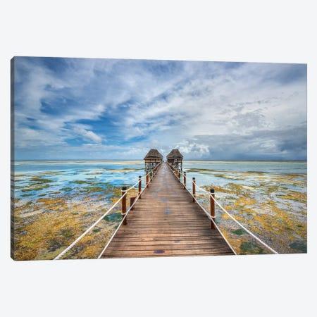 Zanzibar Pier 3-Piece Canvas #MAO47} by Marco Carmassi Canvas Art Print
