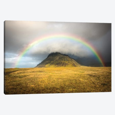 Heaven's Rainbow Iceland Canvas Print #MAO53} by Marco Carmassi Art Print