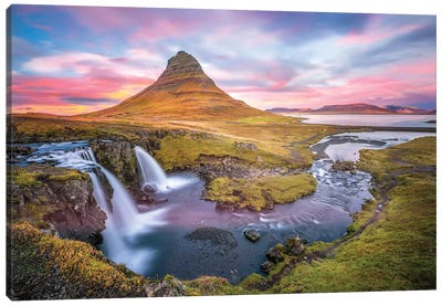 Kirkjufell Autumn Colors Iceland Canvas Art Print