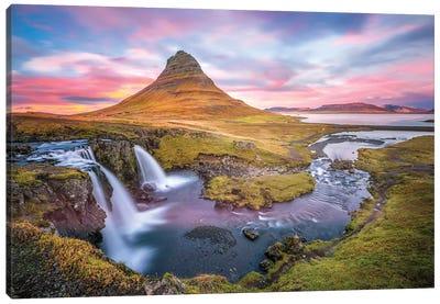 Kirkjufell Autumn Colors Iceland Canvas Art Print