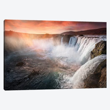 The Waterfall Of The Gods Iceland Canvas Print #MAO55} by Marco Carmassi Canvas Art