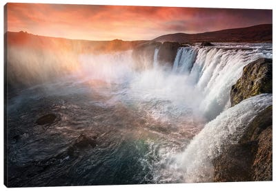 The Waterfall Of The Gods Iceland Canvas Art Print