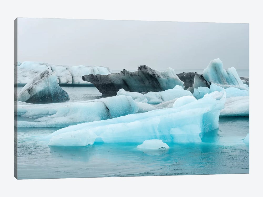 Ice Iceland by Marco Carmassi 1-piece Canvas Wall Art