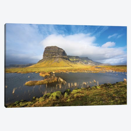 Big Stone Iceland Canvas Print #MAO58} by Marco Carmassi Canvas Print