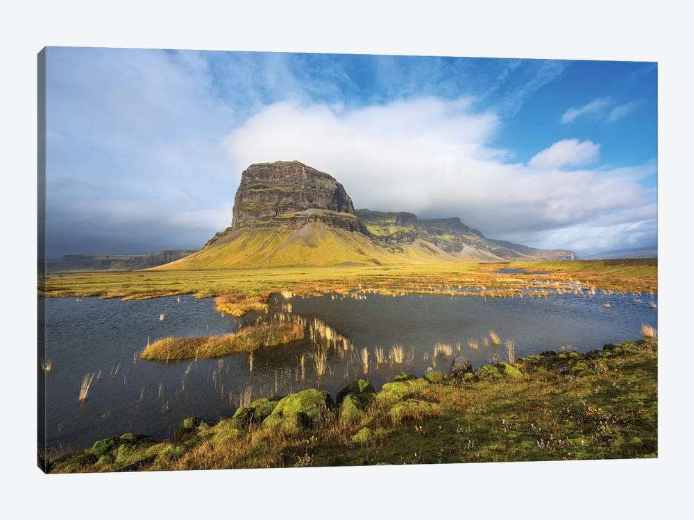 Big Stone Iceland by Marco Carmassi 1-piece Canvas Wall Art