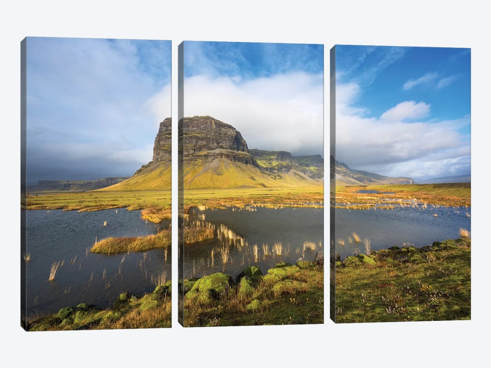 Big Stone Iceland by Marco Carmassi 3-piece Canvas Artwork