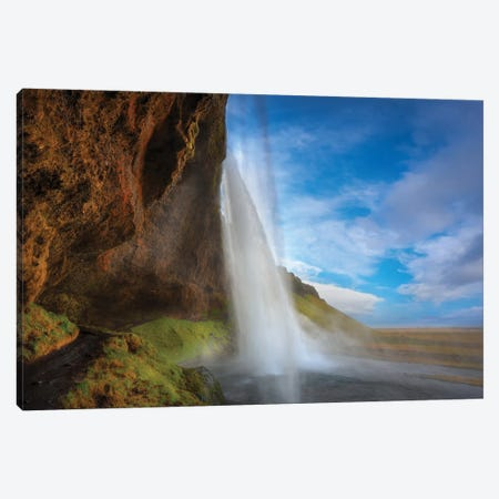 Waterfall Iceland Canvas Print #MAO59} by Marco Carmassi Art Print