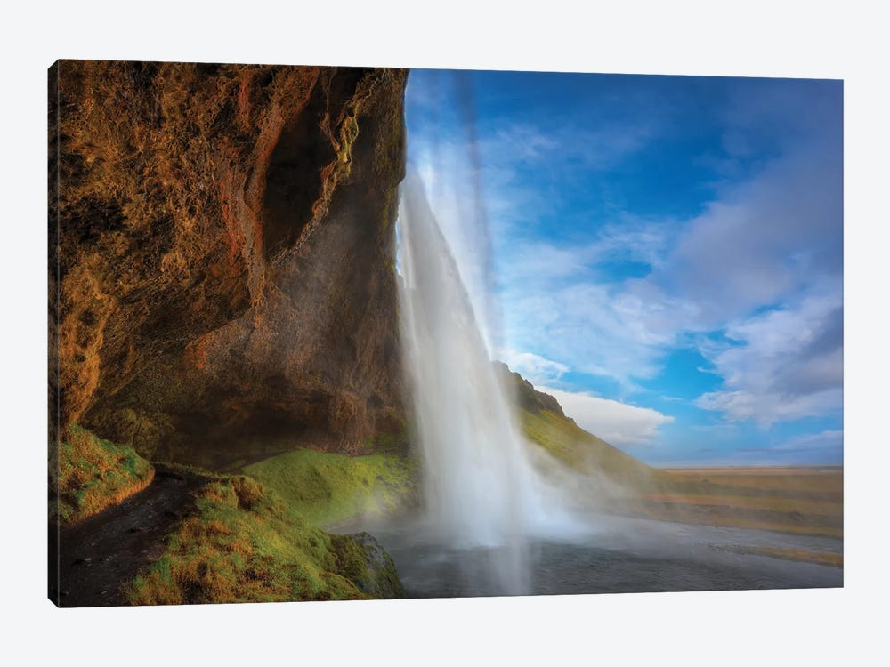 Waterfall Iceland by Marco Carmassi 1-piece Art Print