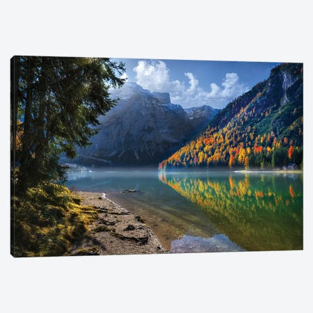 Brais Lake Canvas Print #MAO5} by Marco Carmassi Canvas Print
