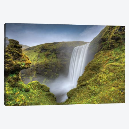 Wild Waterfall Iceland Canvas Print #MAO60} by Marco Carmassi Canvas Artwork