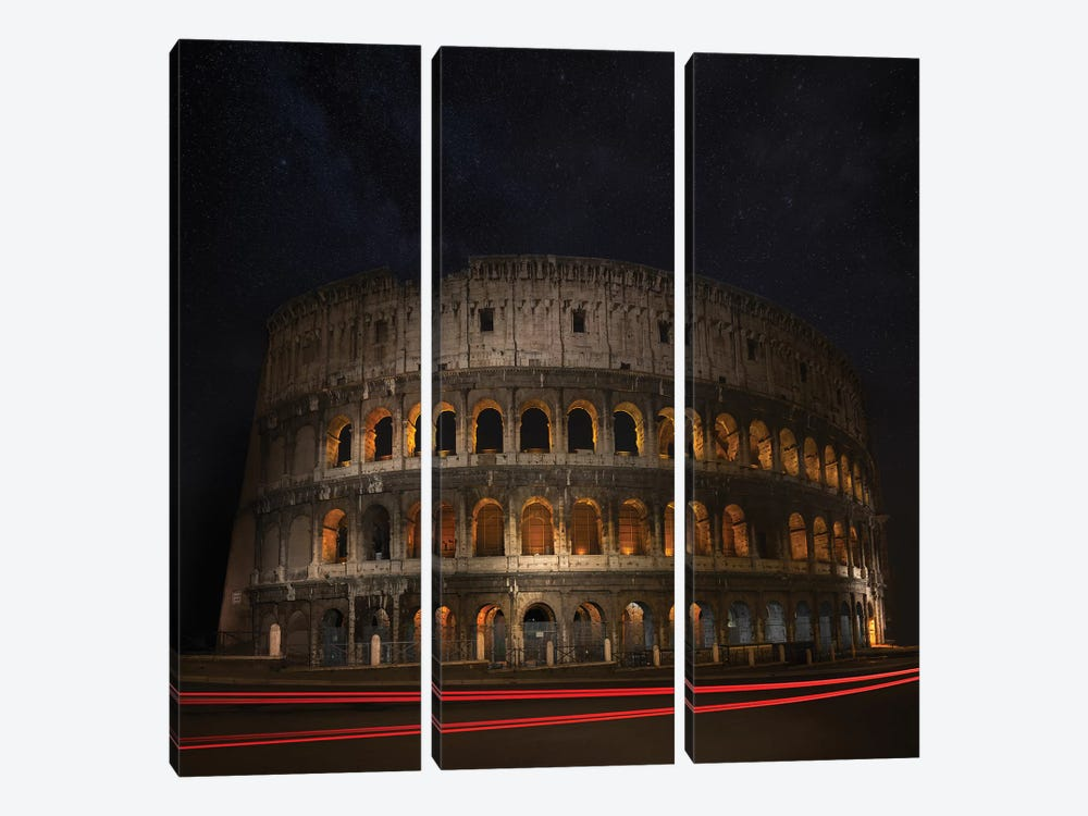Colosseum Ancient History by Marco Carmassi 3-piece Canvas Artwork